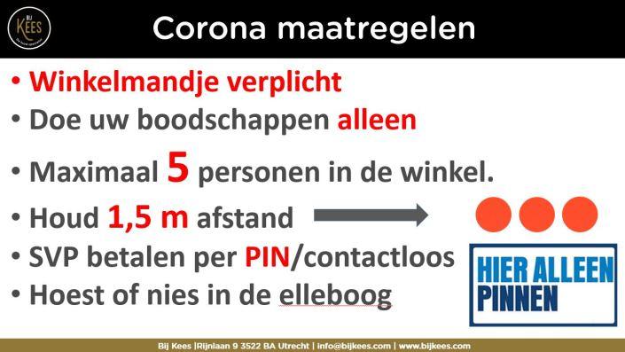 Corona maatregelen 24-3